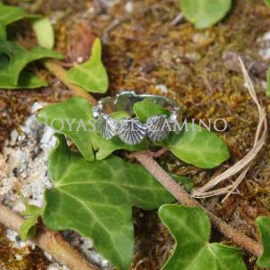 Scallop shells rings silver Compostelle