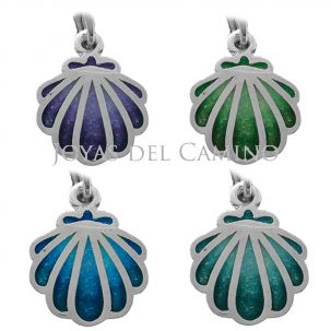 The Camino of Santiago scallop shells pendant colours