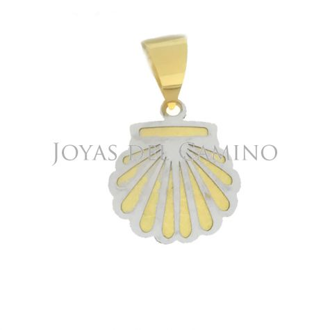 Scallop Shell Yellow Gold and White Gold Camino Santiago