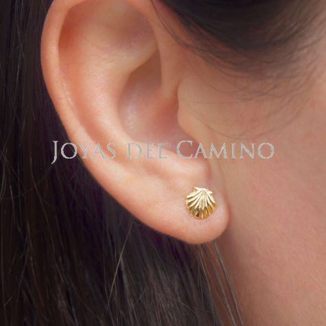 Saint Jacques coquille boucles d'oreilles or
