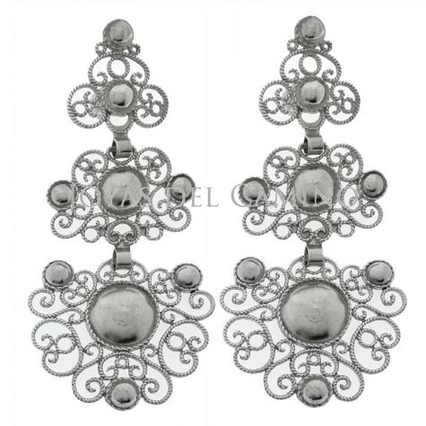 Filigree silver earrings handmade goldsmiths