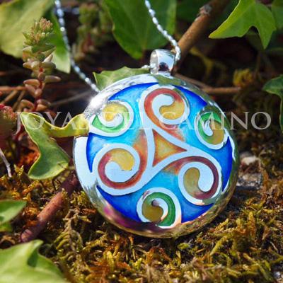 Colgante trisquel celta - Celtic triskel pendant